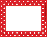 Red and White Name Tag