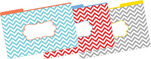 <b>NEW!!</b> Chevron Beautiful Legal-Sized File Folders