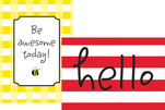 NEW! Poster Duet Set - Hello! You're Awesome
