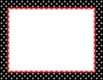 Just Dotty - Black & White Border Chart