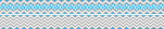 Chevron - Gray and Blue Double-Sided Border