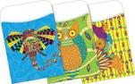 NEW! Peel & Stick - Bohemian Animals Library Pockets