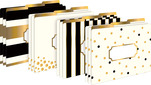 NEW!!  24k Gold File Folders