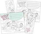 NEW! Color Me! Honor Roll Awards & Bookmarks Set