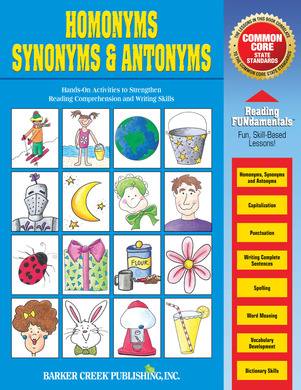 Printables Synonyms Examples what are synonyms and antonyms examples scalien homonyms downloadable pdf barker creek
