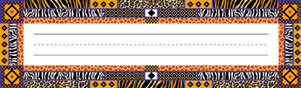 Africa Name Plates picture