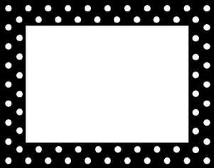 Black & White Dot Name Tag picture