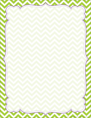 Chevron Lime Border Chart Barker Creek
