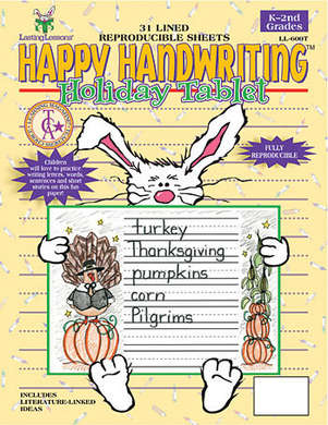 Happy Handwriting Holiday Tablet picture