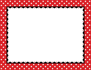 Just Dotty - Red & White Border Chart - Barker Creek