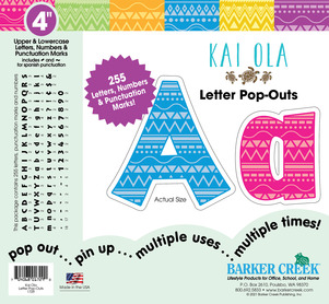 "NEW!! 4"" Bohemian Letter Pop-Outs picture"