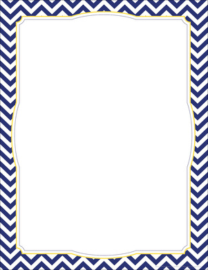 Chevron - Navy Border Chart picture
