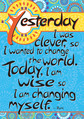 Today I'm Wise Poster