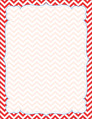Chevron - Poppy Border Chart