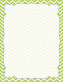 Chevron - Lime Border Chart