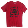 PR25SSGP - GROHL & PEART, RED T-SHIRT