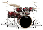 PDCM2217RB - PDP CONCEPT MAPLE - RED TO BLACK FADE - CHROME HW 7 PIECES