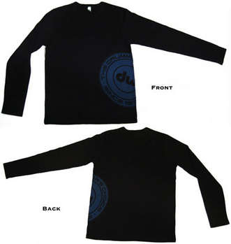 DW Black Long Sleeve Thermal w/Blue DW Drummer's Choice logo picture