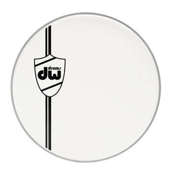 COATED WHT BASS DRUM HEAD, CLASSIC 22IN picture