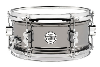 PDSN0612BNCR - PDP Concept Series Black Nickel over Steel Snare with Chrome Hardware 6X12 picture