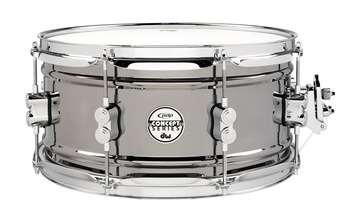 PDSN6513BNCR - PDP Concept Series Black Nickel over Steel Snare with Chrome Hardware 6.5X13 picture