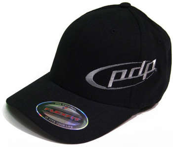 Black Flex Fit hat w/gray embroidered PDP logo picture