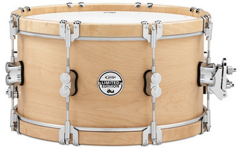 PDSX0714CLWH - 7X14 PDP LTD CLASSIC WOOD HOOP SNARE W/ CLAW HOOKS picture