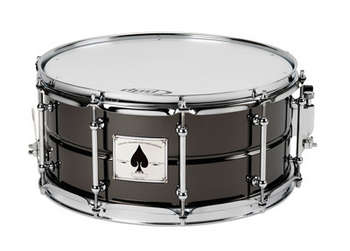 THE ACE: 6.5X14 BLACK CHROME OVER BEADED BRASS SHELL W/ TUBE LUGS picture