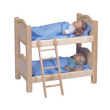 Doll Bunk Beds - Natural picture