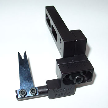 Right Hand Black Slide-Adjust Spring Steel 2 with Long Mounting Bar picture