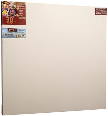 """2 Units - 3D™ PRO 2-1/2"""" Deep MuseumWrap™ 2.5 Tahoe™ 10oz Triple Acrylic Primed Cotton 36x36 picture"""