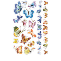 ESTK-LAN3505 - BUTTERFLIES EPOXY STICKER picture