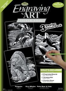 SILF-SET1 - 3 Pc Silver Engraving Art Set picture