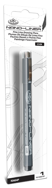 RD604P - NANO LINER 03 PACKAGED BLACK picture