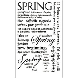 RUB-ROY506 - SPRING SENTIMENTS RUB ON picture