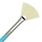 R825-6 - PURE WHITE BRISTLE FAN BRUSH picture
