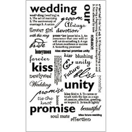 RUB-ROY509 - WEDDING SENTIMENTS RUB ON picture