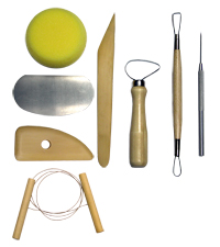 RSET-POT1 - 8PC. COMPLETE POTTERY TOOL SET picture