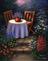 POM-SET13 - GARDEN TABLE MASTERPIECE picture