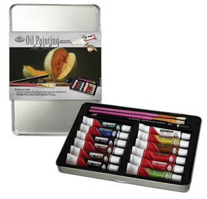 RSET-ART2306 - OIL PAINT MEDIUM TIN ART SET picture