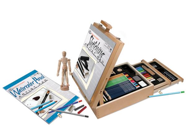 124 st ck k nstler skizzieren zeichnung staffelei box set. Black Bedroom Furniture Sets. Home Design Ideas
