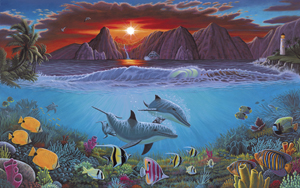 PAL20 - ADULT LARGE/ OCEAN LIFE picture