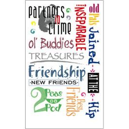 royal langnickel rub roy575 friends phrases sentiments rub