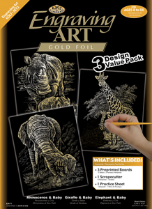 GOLF-SET3 - 3 Pc Gold Engraving Art Set picture