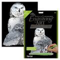 SILF43 - SILVER ENGRAVING SNOWY OWLS