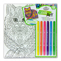 RTN-254 - CANVAS ART MARKERS CAT