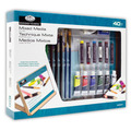 REA5620 - 40PC MIXED MEDIA FLAT EASEL ART SET