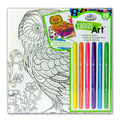 RTN-253 - CANVAS ART MARKERS OWL