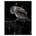 SILF41 - SILVER ENGRAVING SNOWFALL AT NIGHT