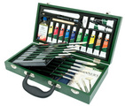 RSET-OIL2000 - Oil Wooden Box Brush Set